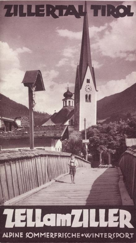 Werbeprospekt für Zell am Ziller, Tirol