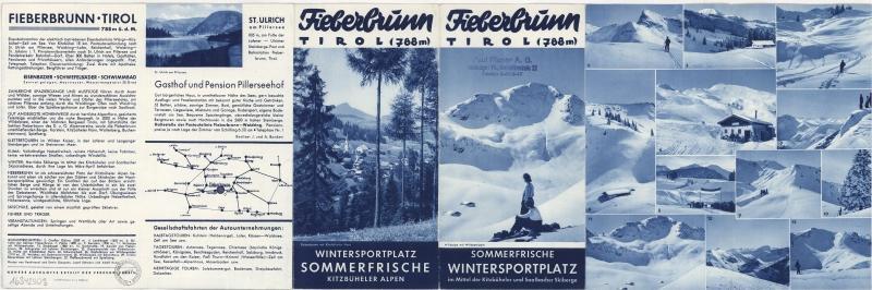 Werbebroschüre Fieberbrunn