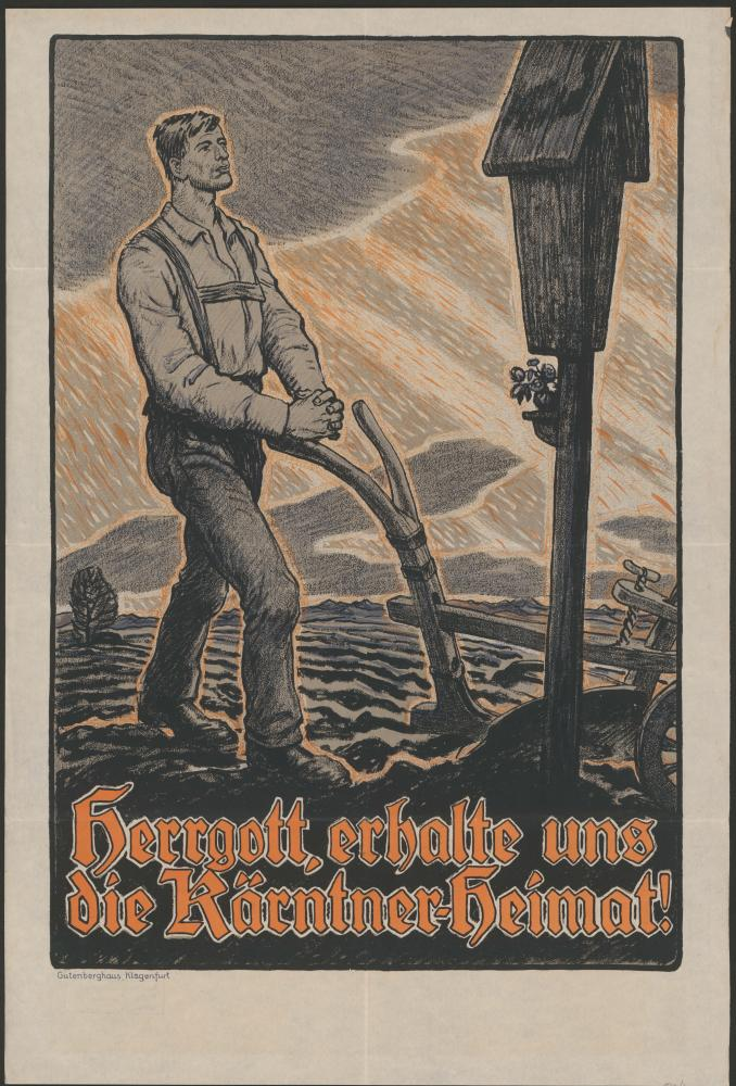 """Herrgott, erhalte uns die Kärntner Heimat!"", Plakat"
