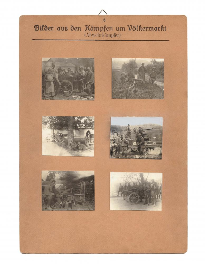 """Aufnahmen von Kärntner """"Abwehrkämpfern"""" gesammelt von Richard Strauss, geb. 1897, Völkermarkt, für die """"Sammlung Kärntner-Volksabstimmung 1919–1920"""""""