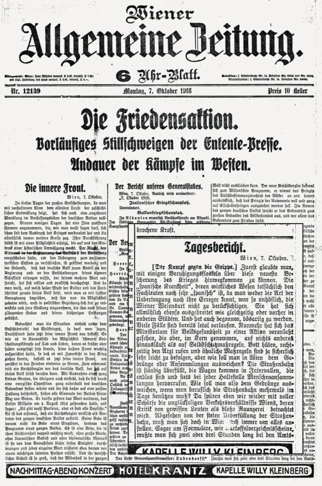 """Zu sehen ist eine Seite der """"Wiener Allgemeinen Zeitung"""". Im vergrößerten Ausschnitt wird beklagt, dass es für Werktätige schwierig ist, die Maßnahmen zur Eindämmung der Pandemie einzuhalten."""