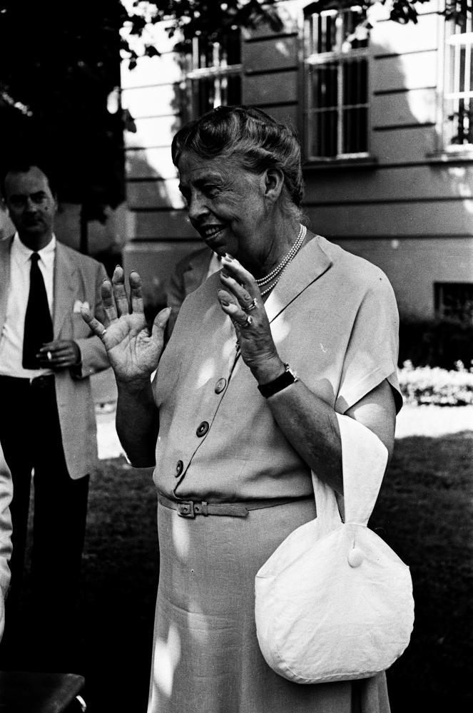 Eleanor Roosevelt spricht in Wien, undatiert