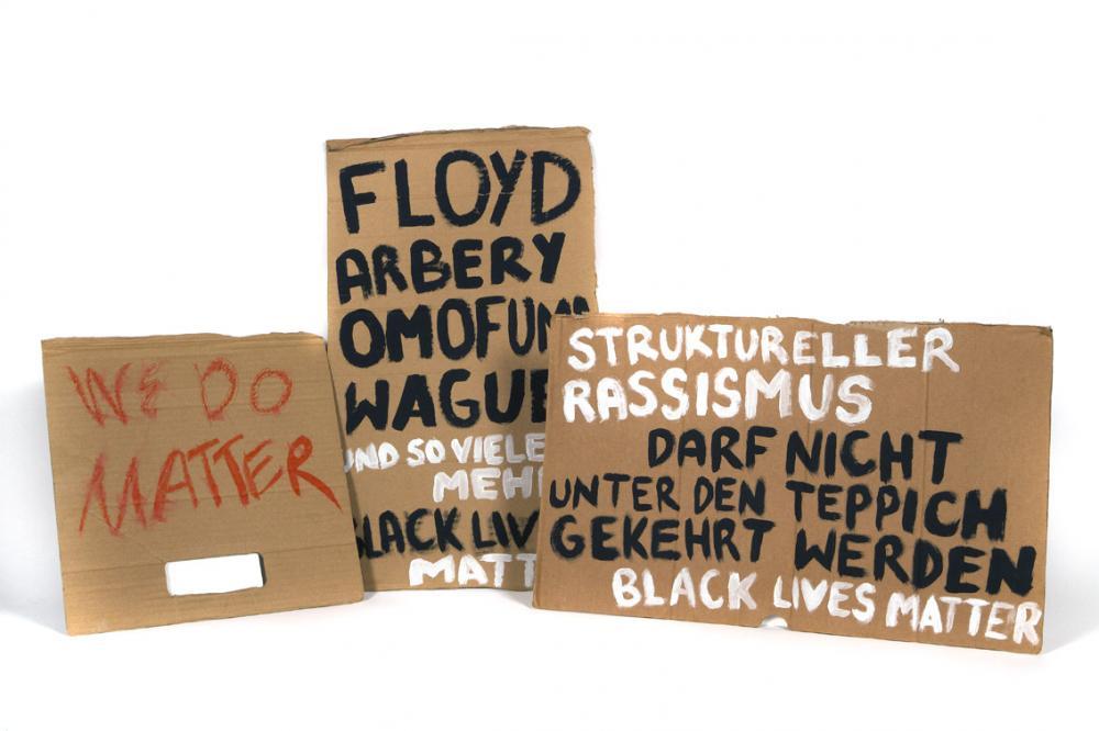 Protestplakate der Black Lives Matter Bewegung, Juni 2020